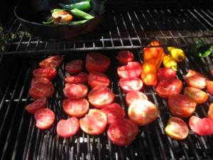 Roasting peppers/tomatoes
