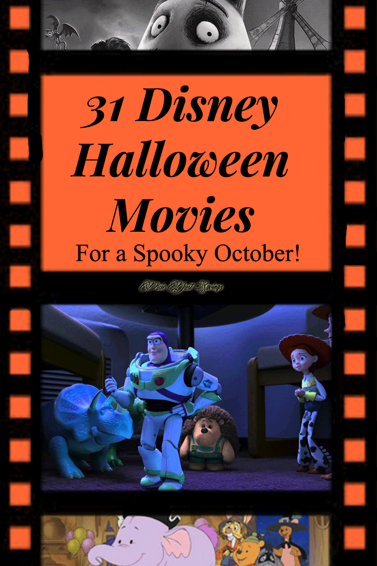 31 Disney Halloween Movies | Disney Fun Everyday in October -