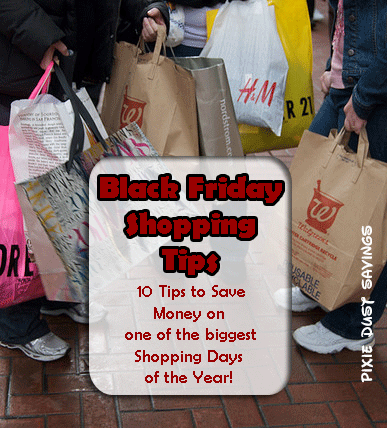 Black Friday Shopping Tips - Pixie Dust Savings