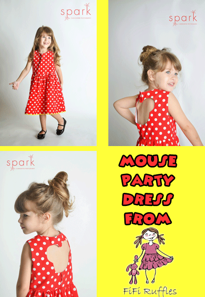 Mouse Party Dress from FiFi Ruffles