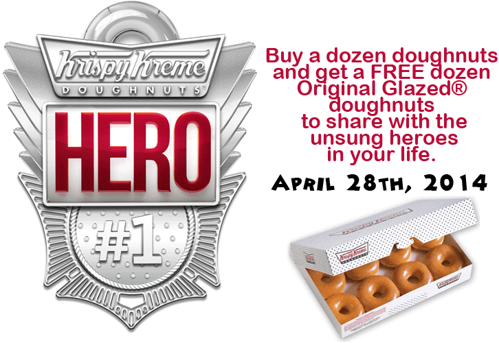 A Dozen Ways to Honor Everyday Super Heroes at Krispy Kreme