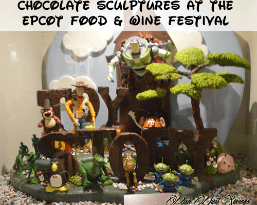 Chocolate Sculptures at EPCOT Food & Wine Festival