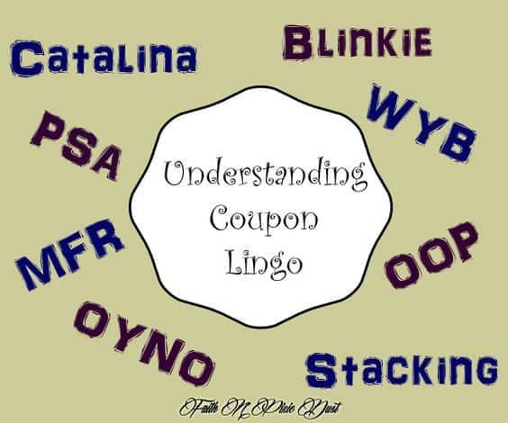 Coupon abbreviations lingo