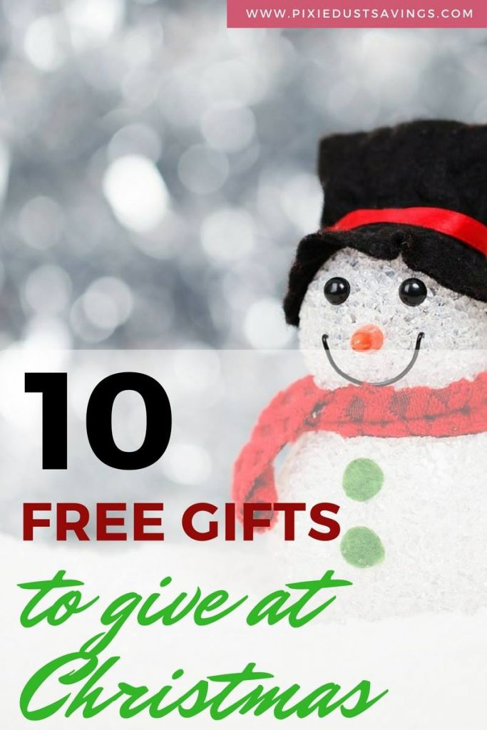 10 FREE Gifts to Give at Christmas When Money is Tight