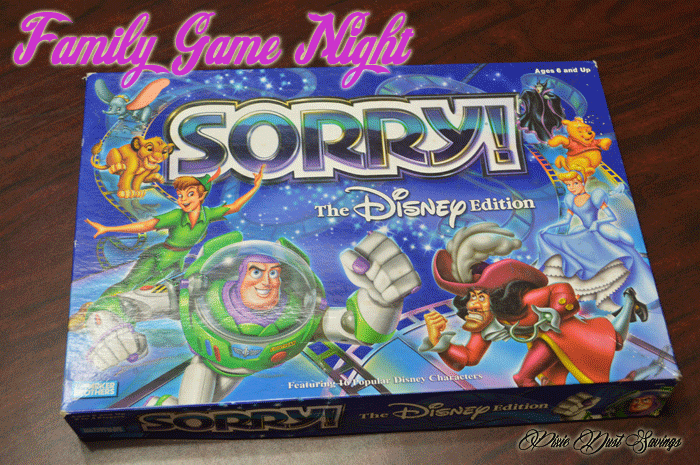 Family Game Night Disney Sorry