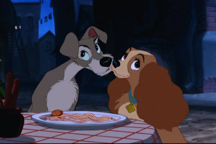 Ladyandthetramp romantic disney movie