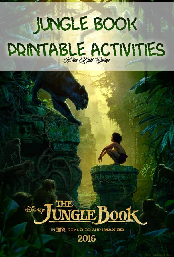 FREE Printable Jungle Book Activity Sheets