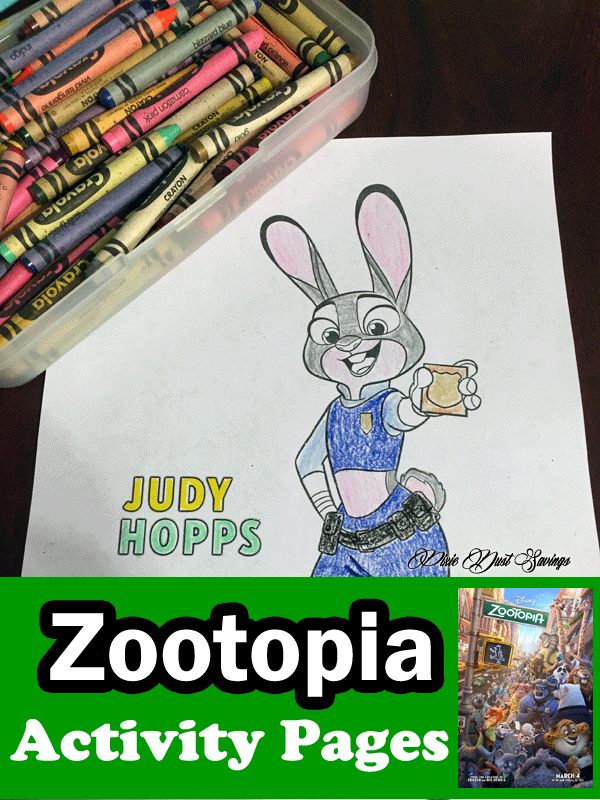 ZooTopia Printable Coloring Sheets