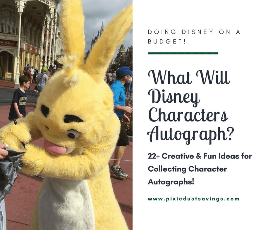 Disney's Rabbit autographing a tree skirt