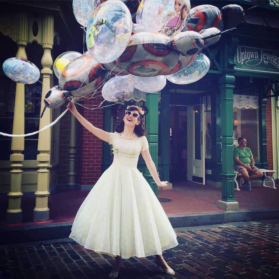 Dapper Day Photo with Balloons