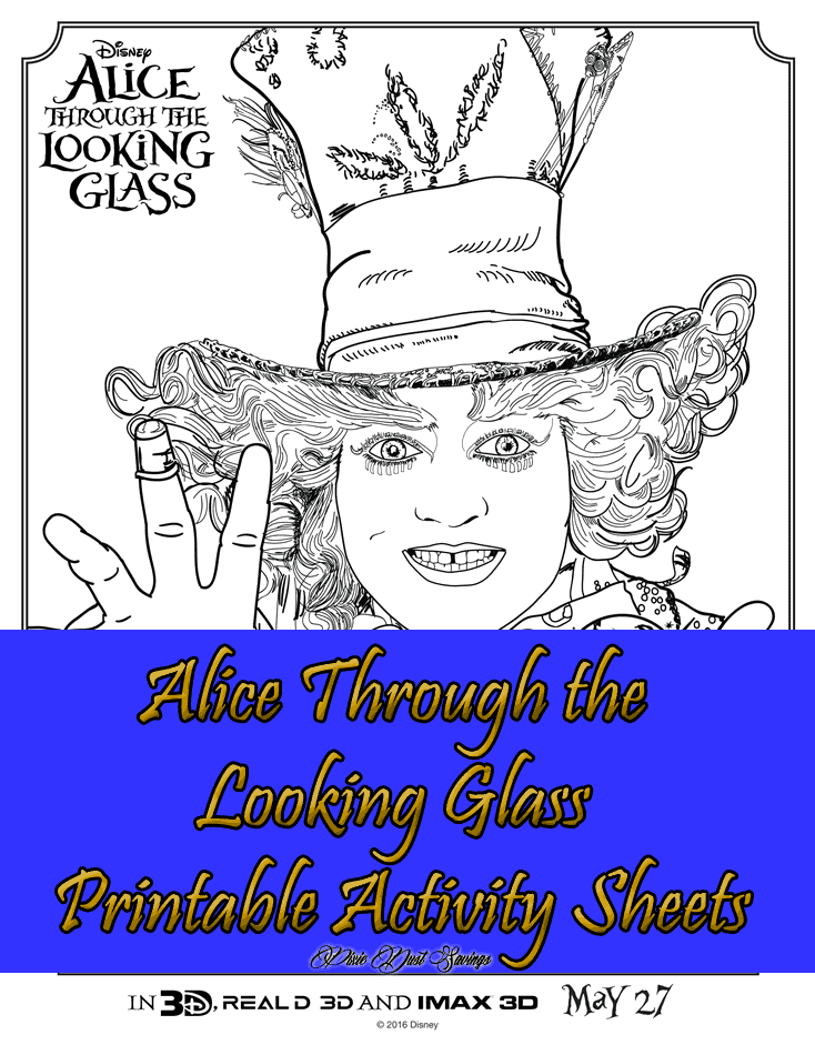 Alice Through the Looking Glass Printable Activity Sheets
