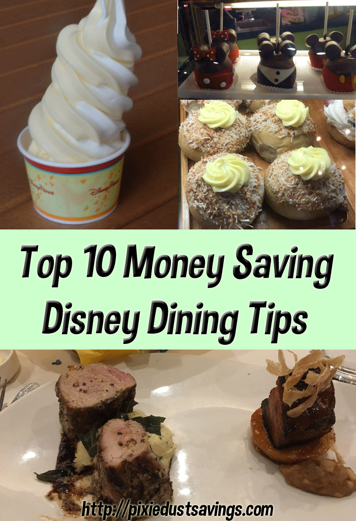 Money Saving Disney Dining Tips
