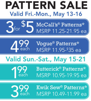 joann pattern sale