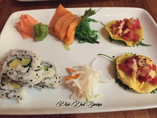 Sushi from the Kona cafe