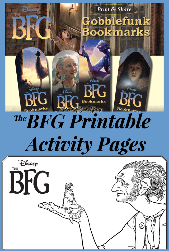 Disney's The BFG Printable Activity Pages