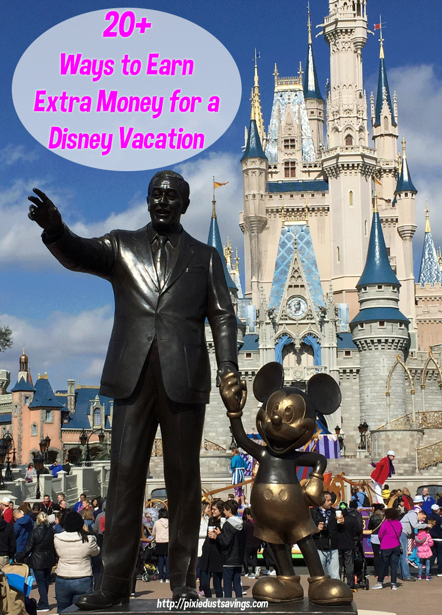 Ways to Earn Extra Money for a Disney Vacation