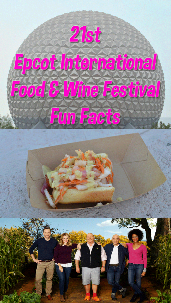 21st Epcot International Food & Wine Festival Fun Facts