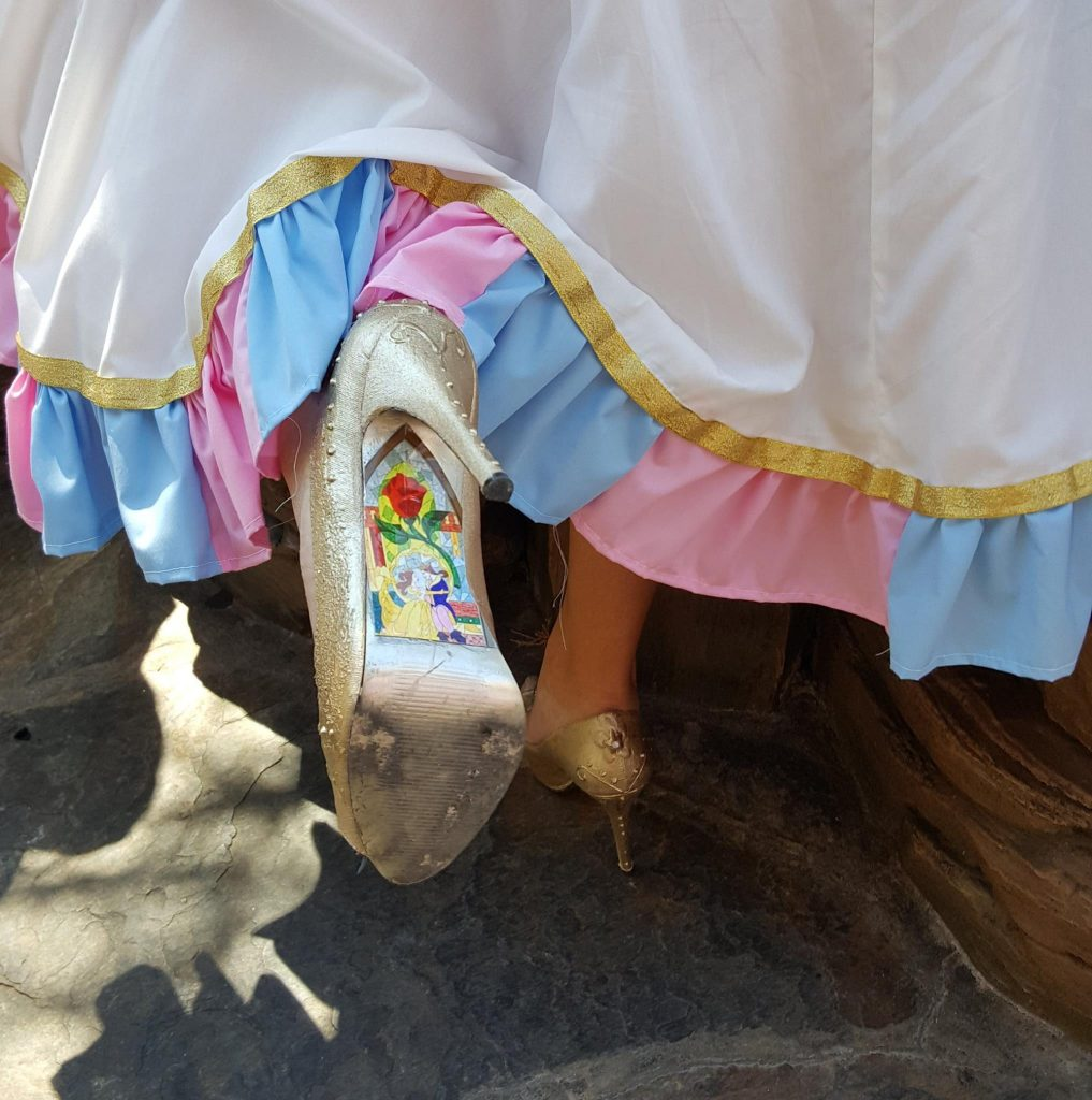 DIY Beauty and Beast Shoes