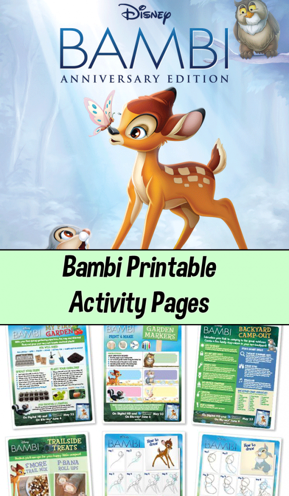 Bambi printable activity pages