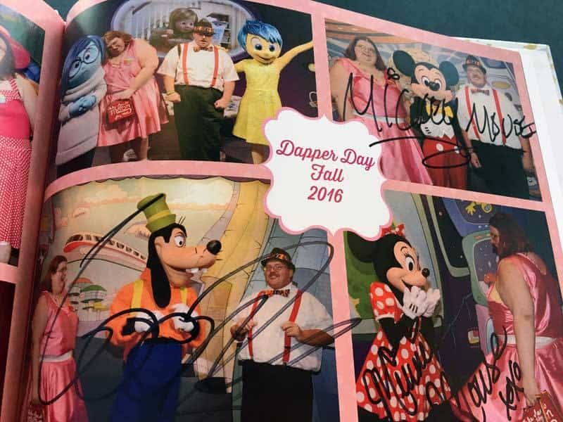 Scrapbook signed by Mickey, Minnie, and Goofy