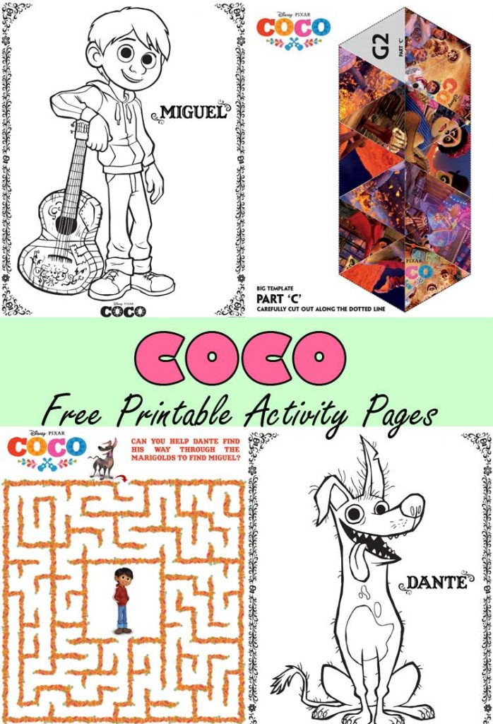 COCO Printable Activity Pages