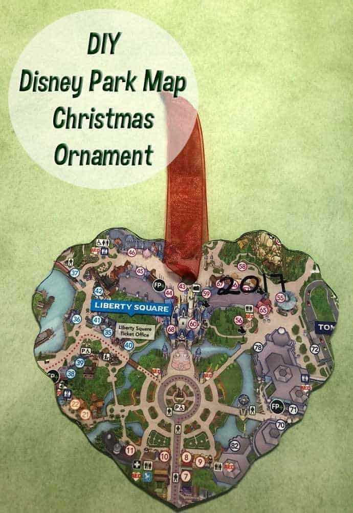 DIY Disney Park Map Ornament