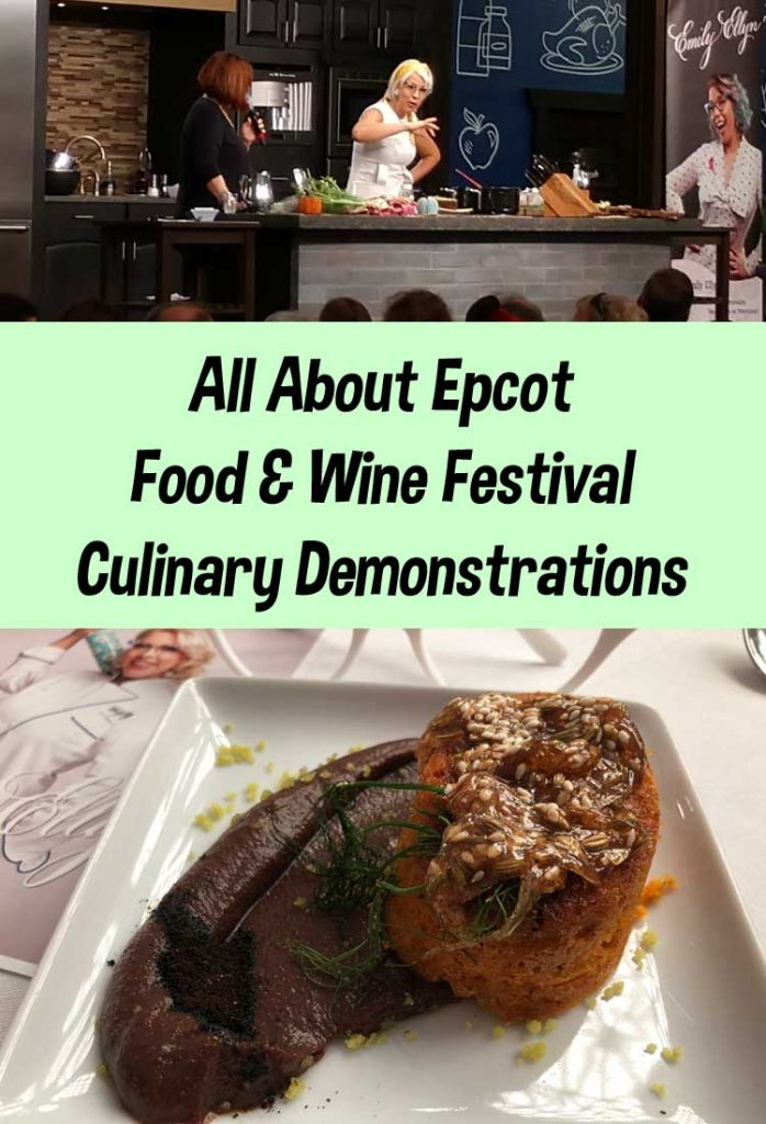 Epcot Food and Wine Culinary Demonstration with Emily Ellyn