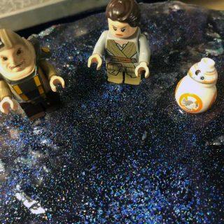 Star Wars Inspired Galaxy Cake with Mirror Glaze