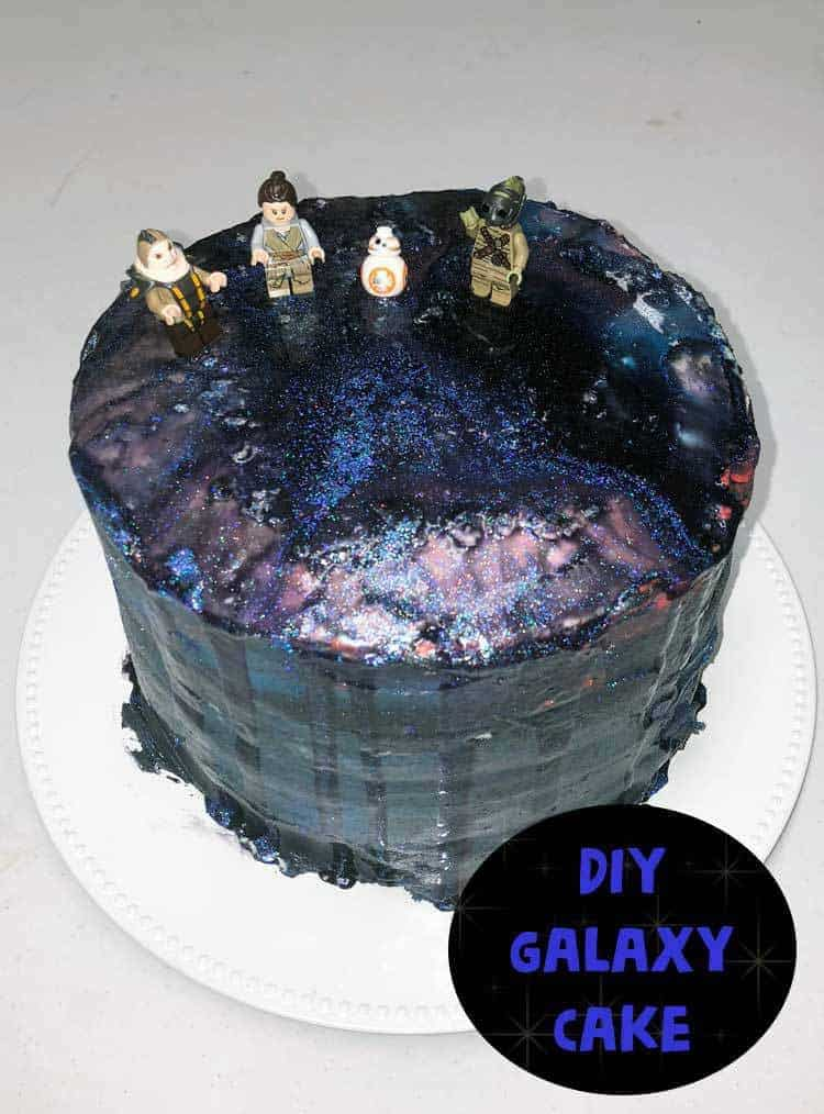 Star Wars Inspired Galaxy Cake