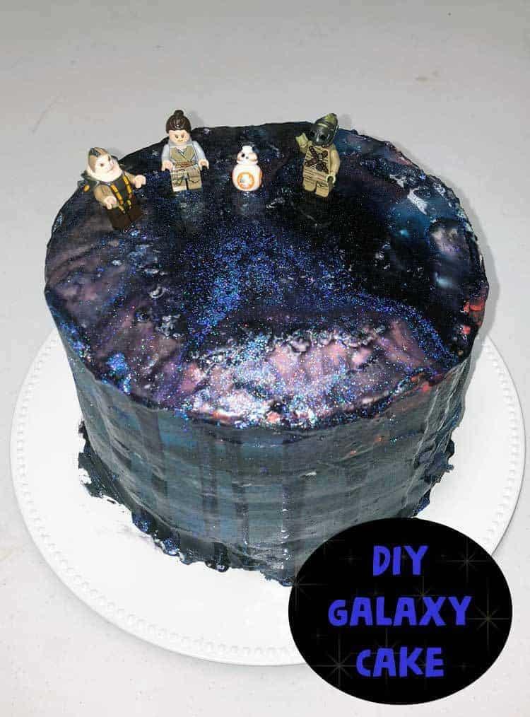 Star Wars Inspired Galaxy Cake